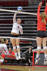 19 August 2017:  Monica Miller during a college women's volleyball match Scrimmage of the Illinois State Redbirds at Redbird Arena in Normal IL (Photo by Alan Look)