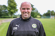 Forest Green Rovers goalkeeper coach Steve Hale during the Forest Green Rovers Training at the Cirencester Agricultural College, Cirencester, United Kingdom on 12 July 2016. Photo by Shane Healey.