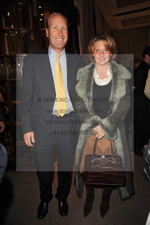 MR & MRS JAMES PALMER-TOMKINSON at a party to celebrate the publication of Inheritance by Tara Palmer-Tomkinson at Asprey, 167 New Bond Street, London on 28th September 2010.