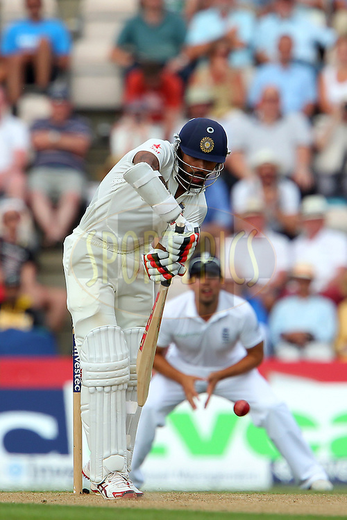 Shikhar Dhawan of India during day two of the third Investec Test Match between England and India held at The Ageas Bowl cricket ground in Southampton, England on the 28th July 2014<br /> <br /> Photo by Ron Gaunt / SPORTZPICS/ BCCI