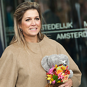 Koningin Maxima bij relatie evenement Villa Joep, het fonds tegen neuroblastoom kinderkanker in het Stedelijk Museum te Amsterdam<br /> <br /> Queen Maxima at Villa Joep event, the fund against childhood neuroblastoma in the Stedelijk Museum in Amsterdam.<br /> <br /> Op de foto / On the photo:  Koningin Maxima / Queen Maxima