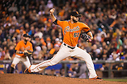 San Francisco Giants relief pitcher Cory Gearrin (62) pitches against the St. Louis Cardinals at AT&T Park in San Francisco, Calif., on September 16, 2016. (Stan Olszewski/Special to S.F. Examiner)