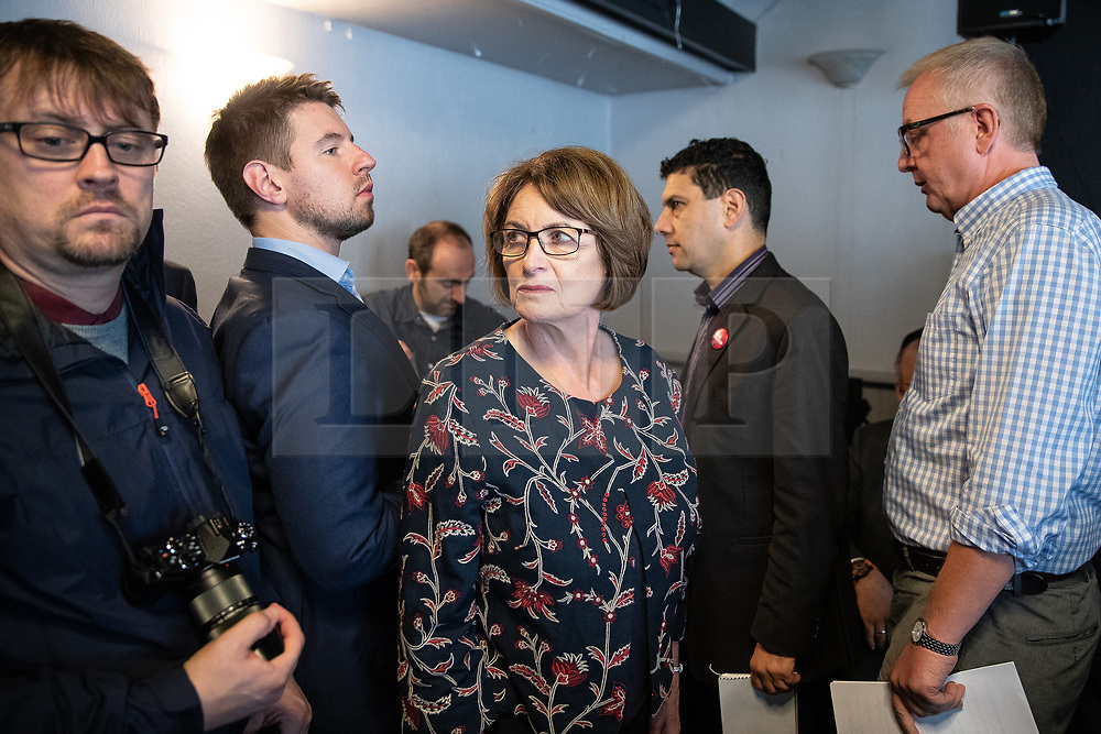 © Licensed to London News Pictures . 23/09/2018. Liverpool, UK. LOUISE ELLMAN MP at a rally by The Jewish Labour Movement at The Liverpool Pub in central Liverpool during the first day of the 2018 Labour Party Conference . Photo credit: Joel Goodman/LNP