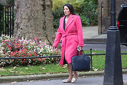Downing Street, London, October 18th 2016. International Development Secretary Priti Patel arrives at the weekly cabinet meeting at 10 Downing Street in London.
