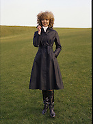 08/02/1978.02/08/1978.8th February 1978.Picture of a women modeling a black coat for Janelle, Finglas.