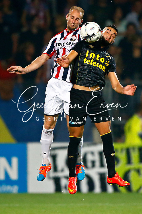 Onderwerp/Subject: Willem II - NAC Breda - Eredivisie<br /> Reklame:  <br /> Club/Team/Country: <br /> Seizoen/Season: 2014/2015<br /> FOTO/PHOTO: Frank VAN DER STRUIJK (L) of Willem II in duel with Adnane TIGHADOUINI (R) of NAC Breda. (Photo by PICS UNITED)<br /> <br /> Trefwoorden/Keywords: <br /> #04 $94 &plusmn;1401920268162<br /> Photo- &amp; Copyrights &copy; PICS UNITED <br /> P.O. Box 7164 - 5605 BE  EINDHOVEN (THE NETHERLANDS) <br /> Phone +31 (0)40 296 28 00 <br /> Fax +31 (0) 40 248 47 43 <br /> http://www.pics-united.com <br /> e-mail : sales@pics-united.com (If you would like to raise any issues regarding any aspects of products / service of PICS UNITED) or <br /> e-mail : sales@pics-united.com   <br /> <br /> ATTENTIE: <br /> Publicatie ook bij aanbieding door derden is slechts toegestaan na verkregen toestemming van Pics United. <br /> VOLLEDIGE NAAMSVERMELDING IS VERPLICHT! (&copy; PICS UNITED/Naam Fotograaf, zie veld 4 van de bestandsinfo 'credits') <br /> ATTENTION:  <br /> &copy; Pics United. Reproduction/publication of this photo by any parties is only permitted after authorisation is sought and obtained from  PICS UNITED- THE NETHERLANDS