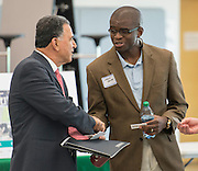 Houston ISD Business Assistance Supplier Diversity networking meeting at Carnegie Vanguard High School, June 11, 2014.