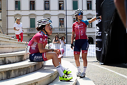 Waiting for sign on during Stage 8 of 2019 Giro Rosa Iccrea, a 133.3 km road race from Vittorio Veneto to Maniago, Italy on July 12, 2019. Photo by Sean Robinson/velofocus.com