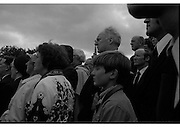 Funeral of Eamon DeValera.   (J72)..1975..02.09.1975..09.02.1975..2nd September 1975..Today saw the funeral of Eamon DeValera. He was laid to rest beside his wife Sinead in Glasnevin Cemetery,Dublin. Dignitries from all around the world attended at the funeral...A picture of some of the public who attended at the funeral.