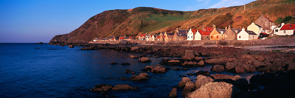 Costal village of Crovie - one the most well preserved fishing villages in Scotland, mainly inhabitated by holiday lets, based in Gamrie Bay on the far north east coast of Aberdeenshire.