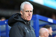 Ipswich Town manager Mick McCarthy smiling during the EFL Sky Bet Championship match between Queens Park Rangers and Ipswich Town at the Loftus Road Stadium, London, England on 2 January 2017. Photo by Matthew Redman.