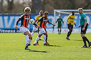 Luton Town's Cameron McGeehan controls the ball during the Sky Bet League 2 match between Oxford United and Luton Town at the Kassam Stadium, Oxford, England on 16 April 2016. Photo by Shane Healey.