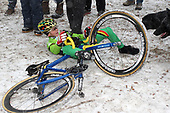 2013.01.20 - Hoogerheide - Thibau Nys crash