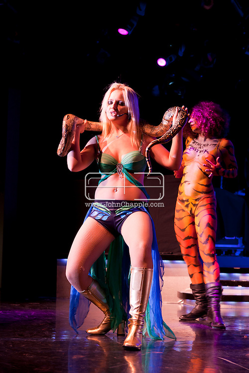 24th February 2011. Las Vegas, Nevada.  Celebrity Impersonators from around the globe were in Las Vegas for the 20th Annual Reel Awards Show. Pictured is 24-year-old Athena Zhe as Britney Spears. Photo © John Chapple / www.johnchapple.com..
