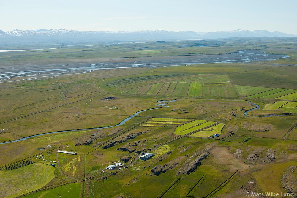 Fagrahlíð, Hlíðargarður og Hlíðarhús (talið frá vinstri). Fljótsdalshérað áður Hlíðarhreppur. /  Fagrahlid, Hlidargardur and Hlidarhus - listed from left to right. Fljotsdalsherad former Hlidarhreppur.