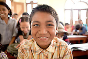 School boy. Kopila Valley Primary School, Surket, Nepal