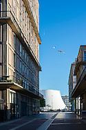 Le Havre centre ville. En grande partie détruit pendant la Seconde Guerre mondiale, le centre-ville a été reconstruit d'après les plans de l'atelier d'Auguste Perret entre 1945 et 1964, il est inscrit au patrimoine mondial de l'UNESCO depuis 2005 / Le Havre city center. Largely destroyed during the Second World War, the city was rebuilt according to the plans of the workshop of Auguste Perret between 1945 and 1964, he was listed as a World Heritage Site by UNESCO since 2005.