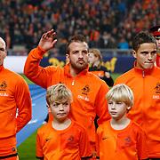 NLD/Amsterdam/20121114 - Vriendschappelijk duel Nederland - Duitsland, Arjen Robben, Rafael van der Vaart, Ibrahim Afellay