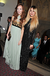 Left to right, OLIVIA GRANT and ZARA MARTIN at the Women for Women International UK Gala held at the Guildhall, City of London on 3rd May 2012.