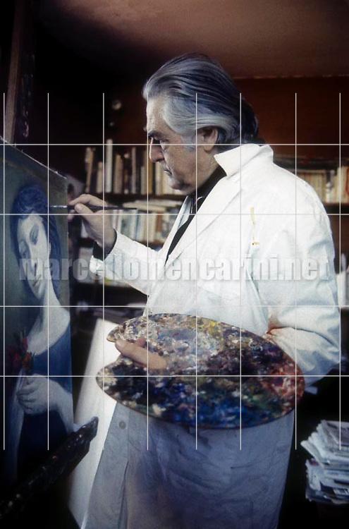 Artist Domenico Purificato / Il pittore Domenico Purificato - © Marcello Mencarini