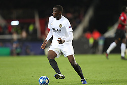 December 12, 2018 - Valencia, Spain - December 12, 2018 - Valencia, Spain - .Mouctar Diakhaby of Valencia during the UEFA Champions League, Group H football match between Valencia CF and Manchester United on December 12, 2018 at Mestalla stadium in Valencia, Spain (Credit Image: © Manuel Blondeau via ZUMA Wire)