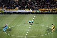 KERKRADE, Roda JC - PSV, voetbal, Eredivisie, seizoen 2016-2017, 03-12-2016, Parkstad Stadion Limburg, 1 minuut stilte voorafgaand aan de wedstrijd.