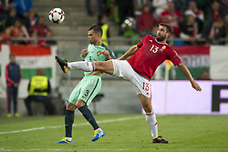 September 3, 2017 - Budapest, Hungary - Pepe of Portugal and  Daniel Bode of Hungary during the FIFA World Cup 2018 Qualifying Round match between Hungary and Portugal at Groupama Arena in Budapest, Hungary on September 3, 2017  (Credit Image: © Andrew Surma/NurPhoto via ZUMA Press)