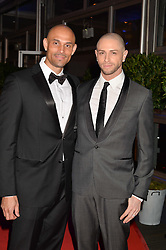 Left to right, DANIEL BROWN and BRIAN FRIEDMAN at Battersea Dogs & Cats Home's Collars & Coats Gala Ball held at Battersea Evolution, Battersea Park, London on30th October 2014.