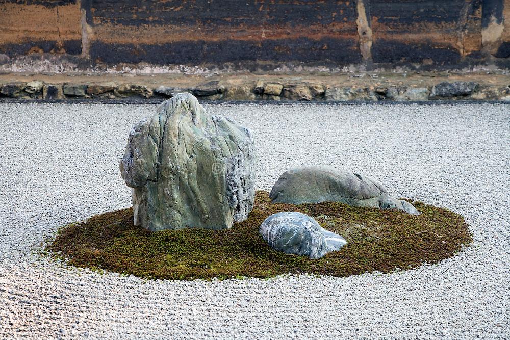 Zen Garden at the Ryoan-ji Temple Kyoto