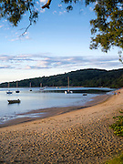 Evening falls over the waterfront at the Town of 1770, QLD, Australia