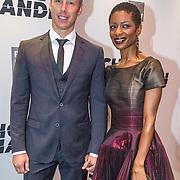 NLD/Amsterdam/20150907 - Premiere Schone Handen, Sylvana Simons en partner Bert