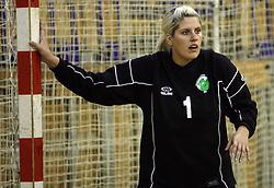Goalkeeper of Olimpija Misa Marincek at  handball game between women team RK Olimpija vs ZRK Brezice at 1st round of National Championship, on September 13, 2008, in Arena Tivoli, Ljubljana, Slovenija. Olimpija won 41:17. (Photo by Vid Ponikvar / Sportal Images)