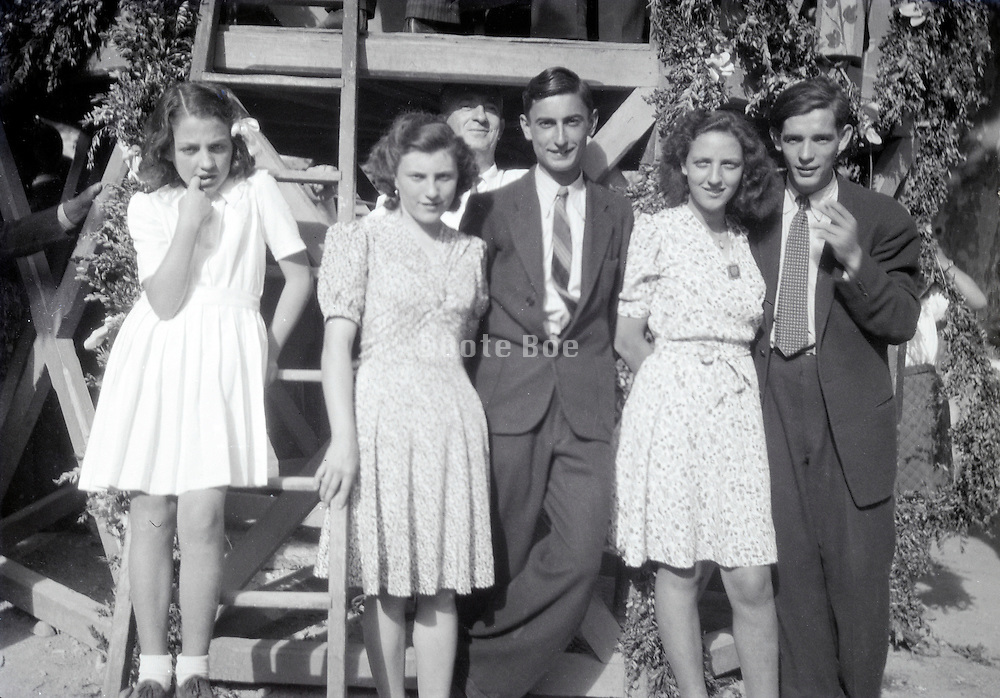 two young adult couples early 1960s rural France