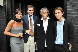 Left to right, LUCY TANG, IAN OSBORNE, DAVID TANG and EDWARD TANG  at the Beat Summer party hosted by Luca del Bono at L'Atelier De Joel Robuchon, 13-15 West Street, Covent Garden, London on 1st July 2008.<br />