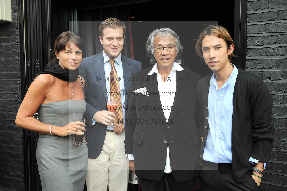 Left to right, LUCY TANG, IAN OSBORNE, DAVID TANG and EDWARD TANG  at the Beat Summer party hosted by Luca del Bono at L'Atelier De Joel Robuchon, 13-15 West Street, Covent Garden, London on 1st July 2008.<br /><br />NON EXCLUSIVE - WORLD RIGHTS