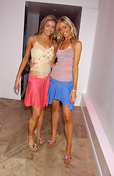 Left to right, twin sisters SUSIE MILLEN and ROSIE MILLEN at the launch of Friday Nights at Mamilanji - Chelsea's newest and most exclusive members club, 107 Kings Road, London SW3 hosted by Charlie Gilkes and Duncan Stirling held on 29th July 2005.<br />