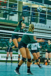 BLOOMINGTON, IL - August 24:  Madi Corey during  the IWU Titans Women<br /> s Volleyball Green-White scrimmage on August 24 2019 at Shirk Center in Bloomington, IL. (Photo by Alan Look)