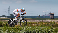 BJERG Mikkel from DENMARK during Men Under 23 Time Trial at 2019 UEC European Road Championships, Alkmaar, The Netherlands, 8 August 2019. <br /> <br /> Photo by Pim Nijland / PelotonPhotos.com <br /> <br /> All photos usage must carry mandatory copyright credit (Peloton Photos | Pim Nijland)
