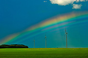 wind turbines and rainbow<br />