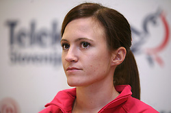 Nina Kovacic at press conference of Athletic Federation of Slovenia (AZS) before the 12th IAAF World Indoor Championships, Valencia, Spain, 7 ? 9 March 2008, on March 3, 2008 in M-Hotel, Ljubljana, Slovenia. (Photo by Vid Ponikvar / Sportal Images)