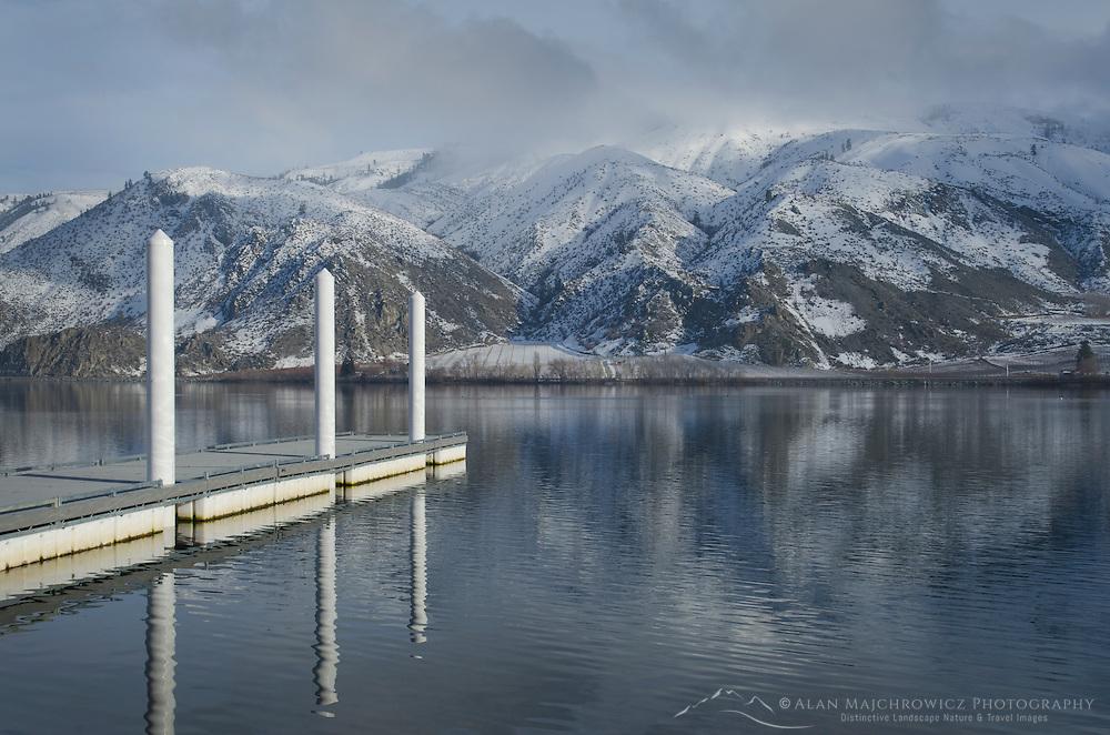 Boat dock on Columbia River, Entiat Washington