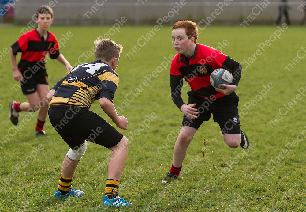 Ennis Brian Crowley Hayes attackes Young Munster line