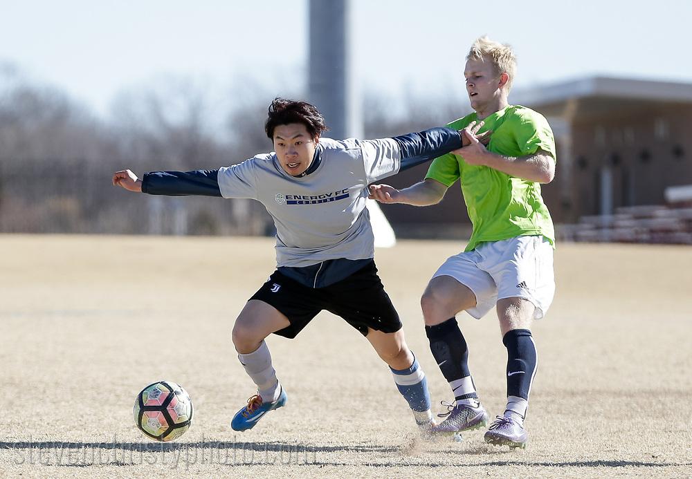 January 27, 2018: OKC Energy FC holds an open combine at Edmond Soccer Club in Edmond, Oklahoma.