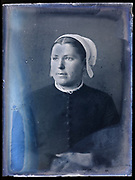 adult woman vintage portrait wearing a cap circa 1920s France Breton