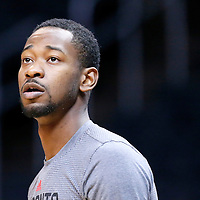 22 November 2015: Toronto Raptors forward Terrence Ross (31) warms up prior to the Toronto Raptors 91-80 victory over the Los Angeles Clippers, at the Staples Center, Los Angeles, California, USA.