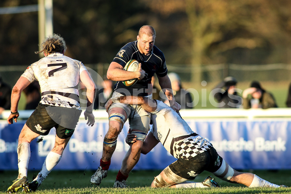 George Merrick in action during the B&amp;I Cup match between London Scottish &amp; Pontypridd at Richmond, Greater London on 13th December 2014<br /> <br /> Photo: Ken Sparks | UK Sports Pics Ltd<br /> London Scottish v Pontypridd, B&amp;I Cup, 13th December 2014<br /> <br /> &copy; UK Sports Pics Ltd. FA Accredited. Football League Licence No:  FL14/15/P5700.Football Conference Licence No: PCONF 051/14 Tel +44(0)7968 045353. email ken@uksportspics.co.uk, 7 Leslie Park Road, East Croydon, Surrey CR0 6TN. Credit UK Sports Pics Ltd
