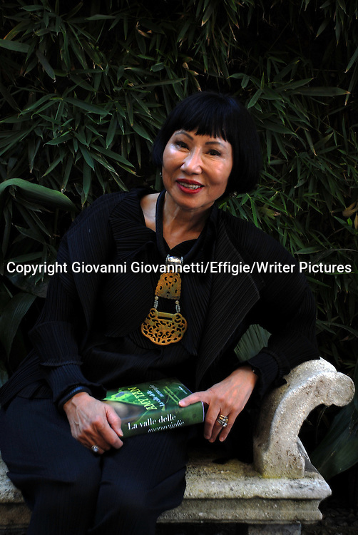 Amy Tan, Milano<br /> 22 September 2014<br /> <br /> Photograph by Giovanni Giovannetti/Effigie/Writer Pictures <br /> <br /> NO ITALY, NO AGENCY SALES