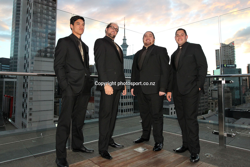 The Four Tenors at the 2012 New Zealand Rugby League Awards at Westpac House, Britomart, Auckland Wednesday, November 7