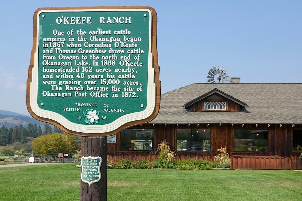 Canada, British Columbia,Okanagan Valley, Vernon, O'Keefe Ranch, Cattlemens Club restaurant