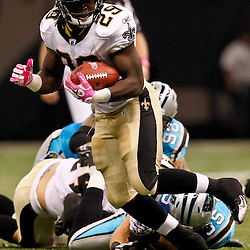 October 3, 2010; New Orleans, LA, USA; New Orleans Saints running back Chris Ivory (29) runs against the Carolina Panthers during the second quarter at the Louisiana Superdome. Mandatory Credit: Derick E. Hingle